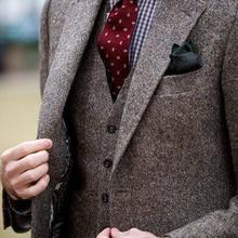 Мужской s Donegal Твид на заказ мужской s твидовый костюм под заказ однобортный мужской костюм с отворотом(куртка+ брюки+ жилет