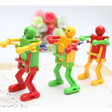 Adjustable Colorful Dancing Robot Toy Classic Cute Cartoon Toys Children Kids Plastic Clockwork Spring Wind-Up Toy Gifts