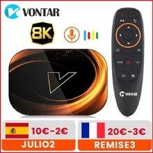 VONTAR X3 4GB 128GB 8K التلفزيون مربع الروبوت 9 الذكية الروبوت TVBOX 9.0 Amlogic S905X3 Wifi 1080P BT 4K مجموعة أعلى مربع 4GB 64GB 32GB