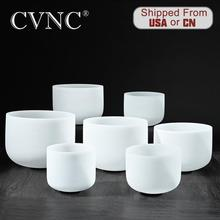 One set Chakra of 7PCS 6-12 Natural crystal Frosted Crystal Singing Bowl