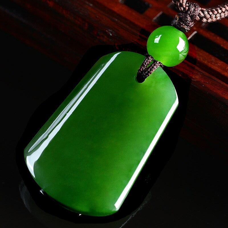 Colar de jóias de jade colar de jóias de jade de jade natural colar de pingente de jade quadrado