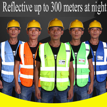 High Visibility Reflective Safety Vest Breathable Safety Clothing Night Run Work Reflective Vest Multi Pockets Workwear Safety unisex car motorcycle reflective safety clothing high visibility safety reflective vest warning coat reflect stripes tops jacket