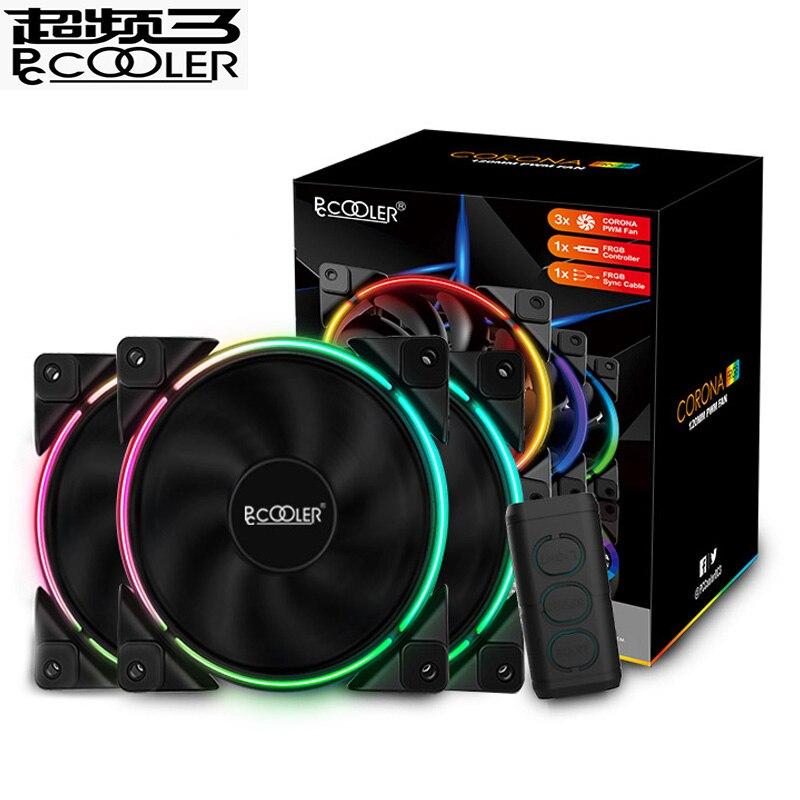 Pccooler 3/упаковка 120 мм RGB вентилятор 5 в 3pin FRGB PWM тихие адресуемые вентиляторы 12 см вентилятор охлаждения компьютера для процессора охладитель жидкости охлаждение|Кулеры/вентиляторы/системы охлаждения|   | АлиЭкспресс