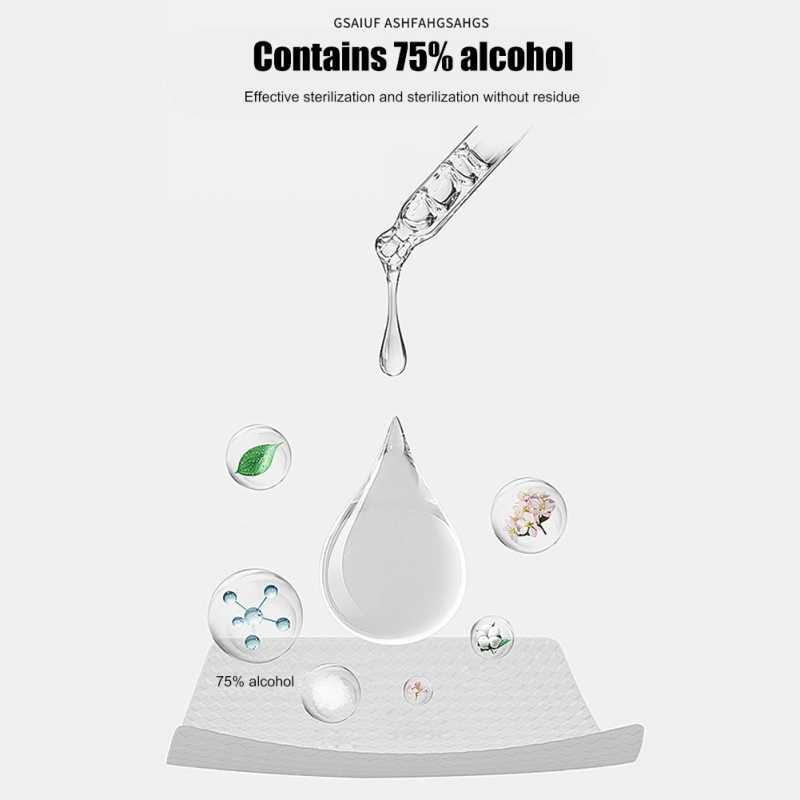 10 листов = 1 упаковка, портативные салфетки для полотенец с содержанием алкоголя 75%, салфетки для дезинфекции, антисептическое очищающее средство для чистки и стерилизации