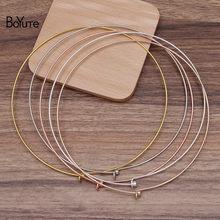 Boyute (5 peças/lote) 130*1.2mm colar de bronze de metal feminino gargantilha clássico colar diy artesanal jóias acessórios