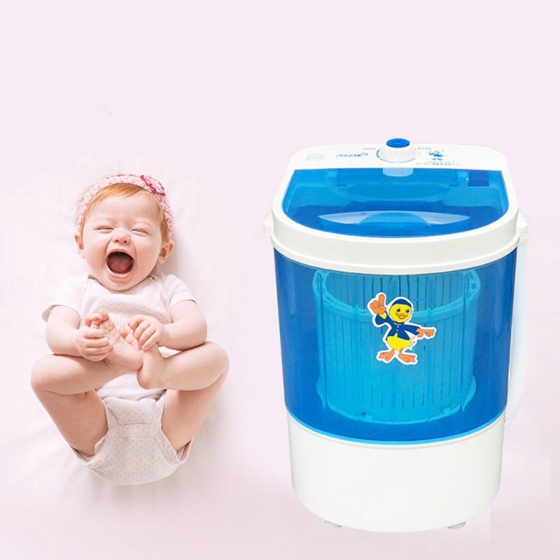 4.5kg Mini Washing Machine Single Tub  Kids Clothes Washer Dryer Small Compact Machine Portable Washer Baby Mini Laundry Machine