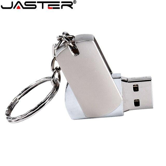 JASTER Metal USB flash drive Portable Pen drive 128GB 64GB 32GB 16GB 4GB pendrive mini flash USB memory stick customer logo