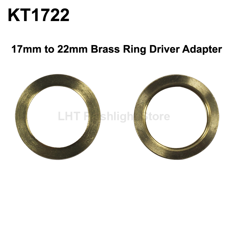 KT1722 <font><b>17mm</b></font> (Int) zu 22mm (Ext) Messing Ring Fahrer Adapter image