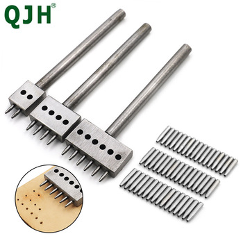 4/5/6/8mm Spacing Leather Hole Punches Hole Punching Nail DIY Hand Perforated Round Stitching Cut Leather Punch Tools Hole Set