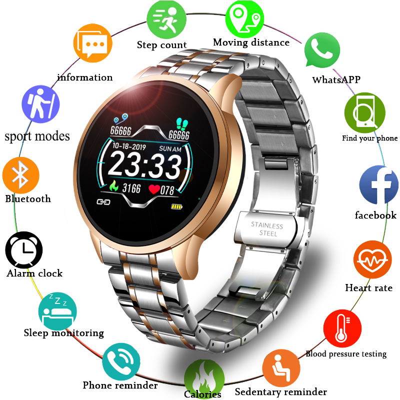 LIGE 2020 New Smart Watch Men Women Sports Watch LED screen Waterproof Fitness Tracker for Android ios Pedometer Smart Watch