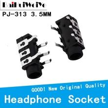 Earphone-Socket PJ-313 20pcs/Lot 3-Section-Of-The-5-Pin Stereo 5pin