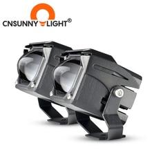 CNSUNNYLIGHT Mini Bi Farbe LED Projektor Objektiv Arbeit Licht Nebel Lichter 4X4 Offroad Auto Scheinwerfer Dual Strahl Moto Bike Scheinwerfer 12V
