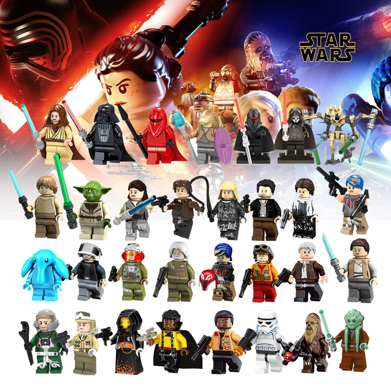 Legoelys Star Wars Building Blocks Figures Solo Anakin Darth Vader Han Yoda Compatible Legoingly Starwars Figurines Toys Bricks