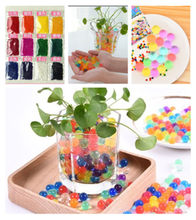100 Pcs/set Crystal Lumpur Hydrogel Crystal Tanah Outdoor Air Beads Vas Tanah Tumbuh Magic Bola Mainan Anak-anak Dekorasi Rumah(China)