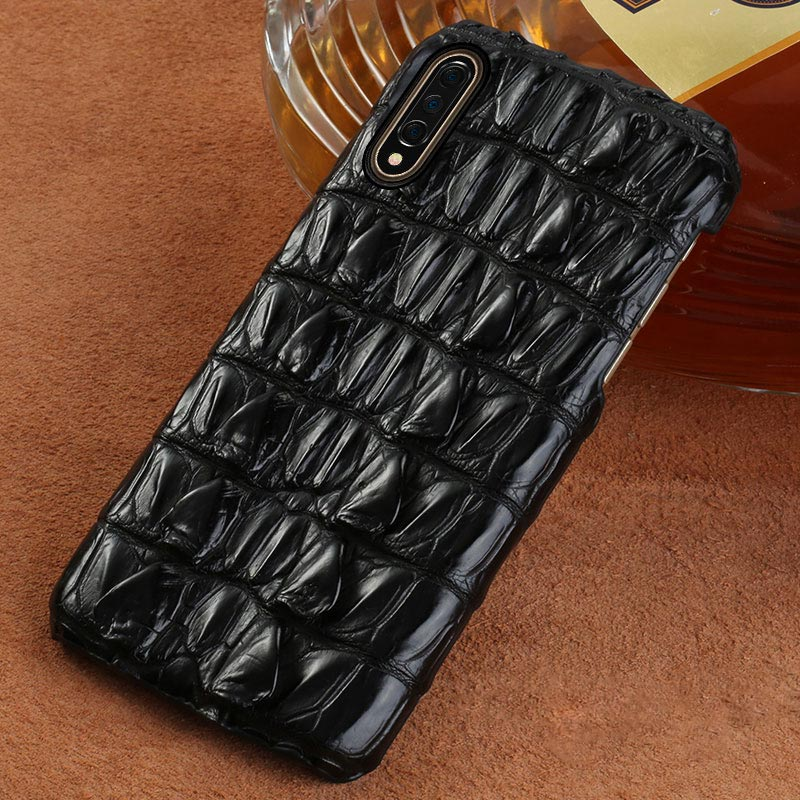 De luxe En Cuir de crocodile Véritable coque pour xiaomi mi 9 9T 9T Pro 9SE 8 8se 8 Lite A3 couverture Rouge mi K20 K20pro note 7 5plus 4x 7A