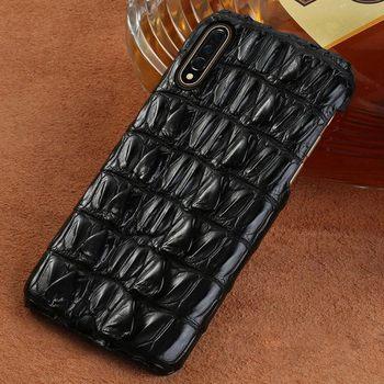 Luxury Real crocodile Leather cases for Xiaomi Mi 9 9T 10 Pro 8 se 8 Lite A3 A2 cover for Redmi 7A 8 note 8 Pro 8T 7 5 Plus 4x