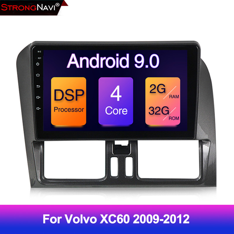 9inch 2GB+32GB DSP Android 9 Car Gps Navigation Multimedia Player For Volvo XC60 2009 2010 2011 2012 With Wifi BT USB Radio