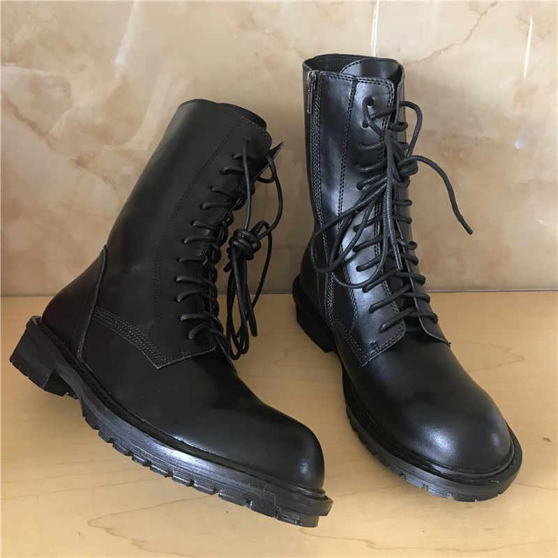 Jady Rose 2020 ใหม่สีดำร้อนหนังนุ่มผู้หญิงรองเท้าข้อเท้า Lace Up Casual รองเท้าแบนรองเท้าผู้หญิงสั้น Booties ขี่รองเท้าบูท