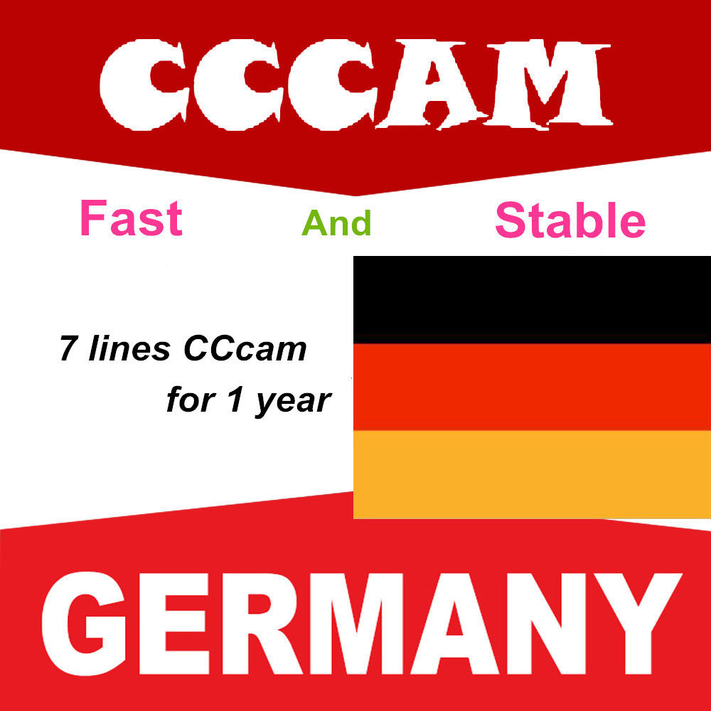 Newest 2020 Most Stable Cccams For Europe Germany Satellite Tv Receiver 7 Lines WIFI FULL HD DVB-S2 Support Ccams