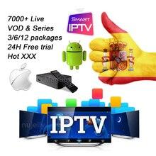 Spain Germany Iptv Subscription M3u Code 7000+ 4K FHD HD Live Vod Series Hot XXX France USA CA 1 Year Smart TV Android Tv Box gotit pakistan iptv s905 amlogic s905x 4k smart android tv box 4500 live germany albania indian usa south america smart tv box