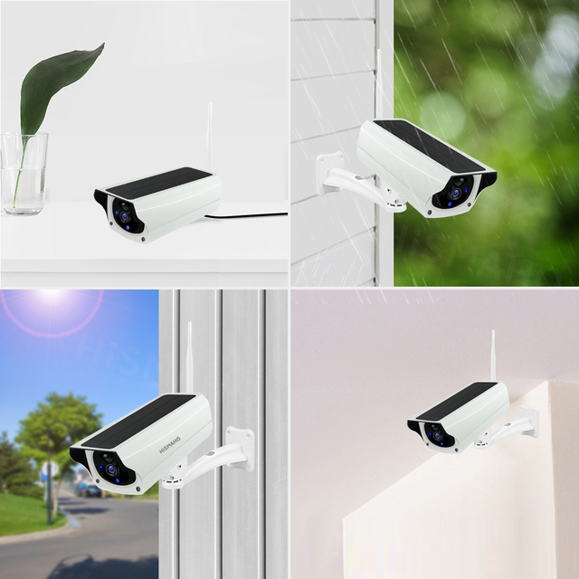 WIFI Wireless Solar Camera 1080P Metal Shell Outdoor Security Surveillance CCTV Bullet 2MP HD Battery IP Camera CamHi Pro APP 6
