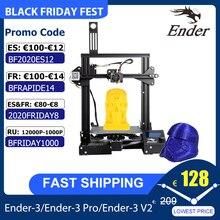 Creality 3D Ender 3/Ender 3 Pro 2020 yeni Ender 3 V2 3D yazıcı kiti MK 10 ekstruder devam baskı 220*220*250mm boyutu