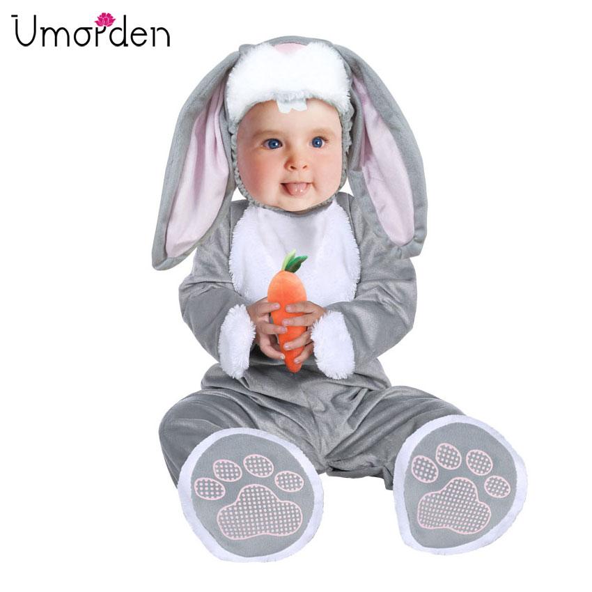 Umorden Easter Halloween Costumes Toddler Infant Baby Bunny Rabbit Costume Cosplay For Baby Girl Boy Fancy Dress Jumpsuit