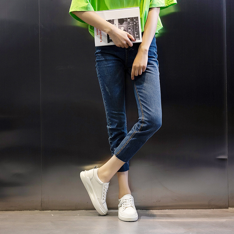 נעלי סניקרס לבנות לנשים סולייה מוגבהת 4