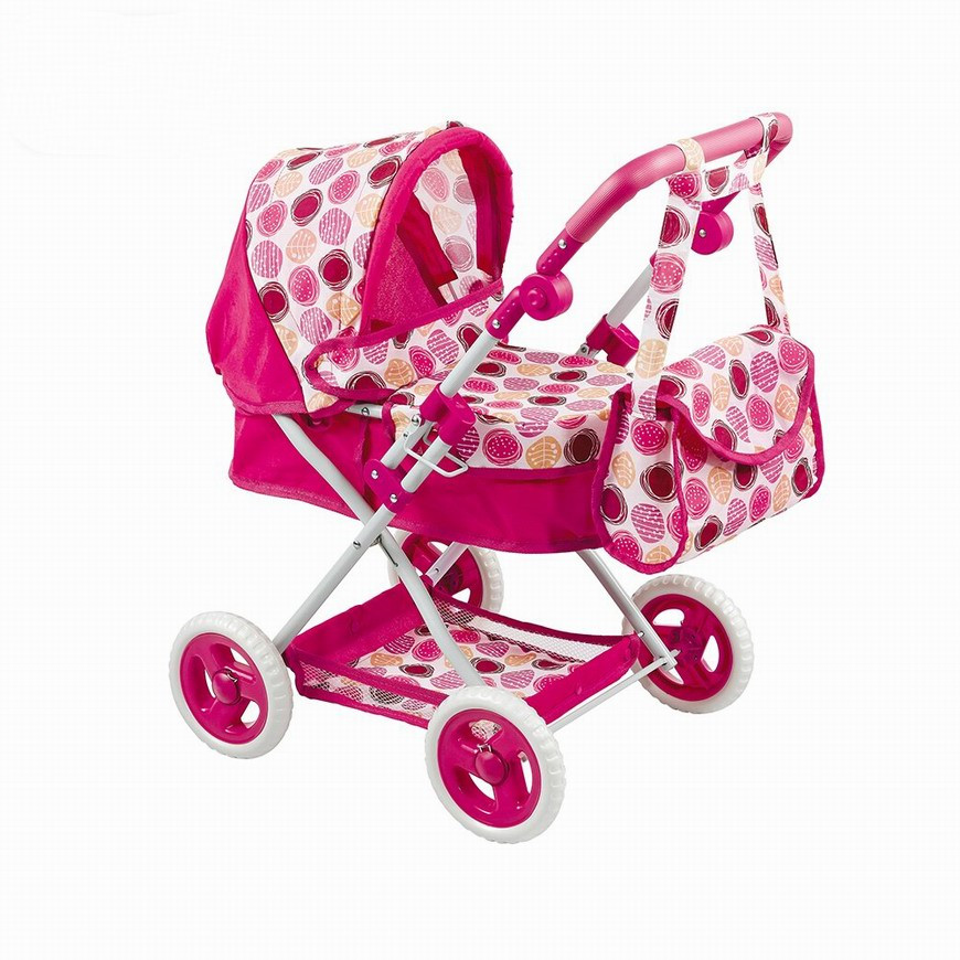 New 4 Styles Doll Stroller Canopy Shoulder Bag Adjust Handle Children's Pretend Play Toys Birthday Christmas Gift Brinquedos