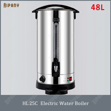 HL25C electric water boiler 48L stainless steel big electric kettle commercial milk boiler warmer hot water boiling machine цена и фото