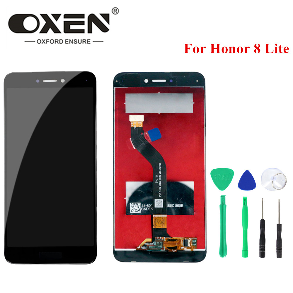 OXEN For <font><b>HUAWEI</b></font> <font><b>Honor</b></font> <font><b>8</b></font> <font><b>Lite</b></font> LCD <font><b>Display</b></font> Touch Screen Digitizer Assembly <font><b>PRA</b></font>-<font><b>TL10</b></font> <font><b>PRA</b></font> LX1 LX3 Replacement 5.2