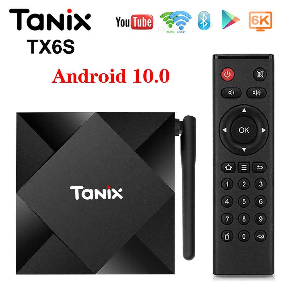 Tanix TX6S Android 10.0 TV BOX Android 10 4GB 64GB Allwinner H616 QuadCore TVBox H.265 6K Google Player Netflix Media Player TX6