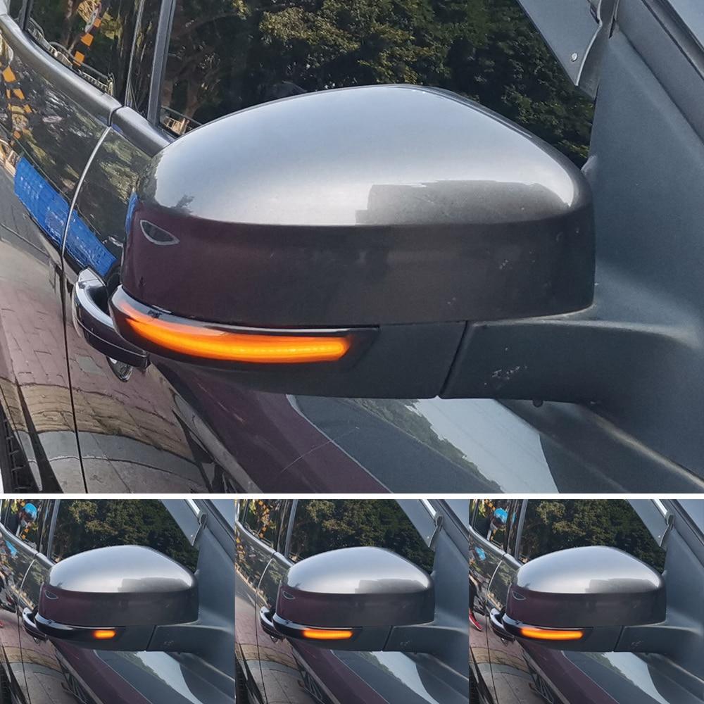 2pcs Dynamic Turn Signal Light LED Side Wing Rearview Mirror Indicator Blinker Light For Ford Focus 2 3 Mk2 Mk3 Mondeo Mk4Signal Lamp   -