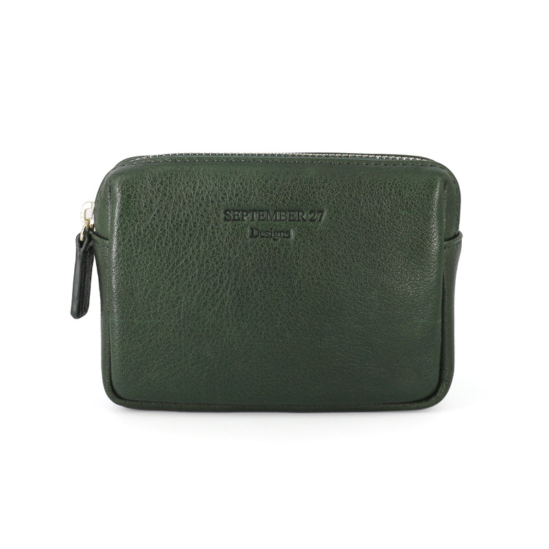 Cowhide Purse Women's Handmade Zipper Genuine Leather Stereo Coin Bag Wallet Storgage Bag Wallet Men's