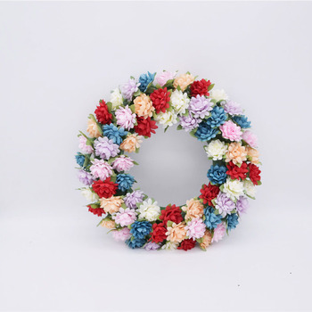 4cm Lotus seed Chrysanthemum Artificial Silk Flower Head For Home Wedding Party Decoration Scrapbooking DIY Flowers Wall wreath image