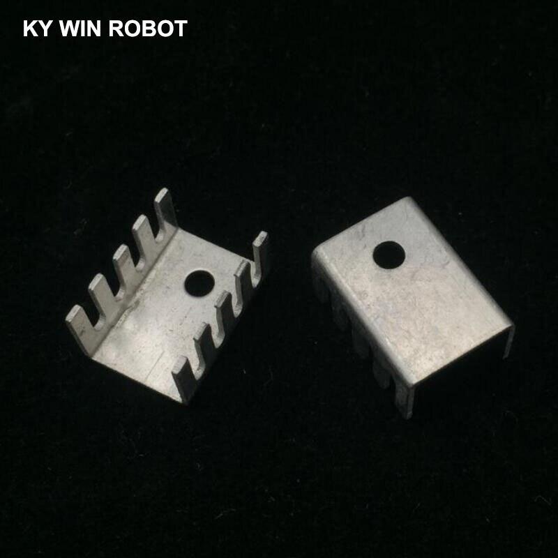 10 шт. белый 15*10*20 мм Триод теплоотвод 10*15*20 мм TO-220 TO220 транзистор алюминиевый радиатор теплоотвод охладитель охлаждения 20*15*10 мм