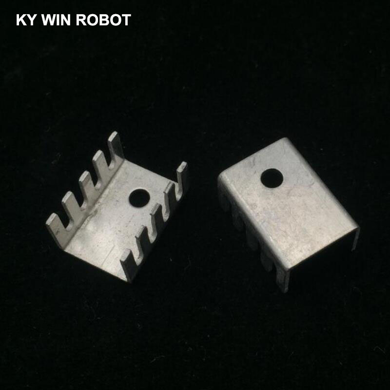 10PCS White 15*10*20MM Triode Heat Sink 10*15*20MM TO-220 TO220 Transistor Aluminum Radiator Heat Sink Cooler Cooling 20*15*10MM