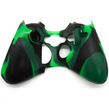 9 colors Soft Silicon Camouflage Protective Skin Case Cover Non-slip Cover for Xbox 360 Game Controller cover #5 camouflage pattern silicone protective case for xbox 360 and xbox slim