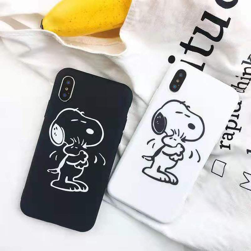 Nette Cartoon Hund vogel telefon Fall für <font><b>iPhone</b></font> <font><b>X</b></font> XR <font><b>XS</b></font> <font><b>Max</b></font> für <font><b>iPhone</b></font> 6 6s 7 8 plus matte weiche silikon fall backcover capa image
