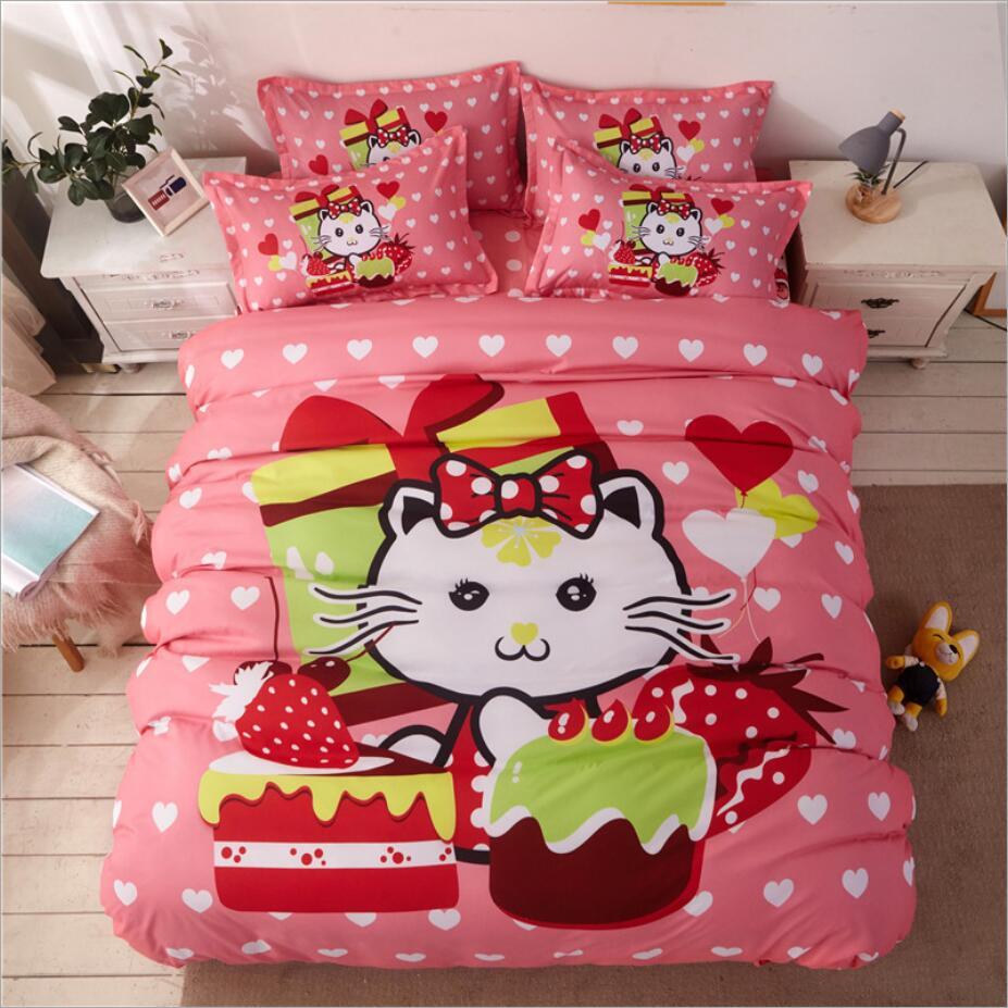 Ensemble de literie coton joli dessin animé | Spongebob couleurs de ponçage, 4 pièces/3 pièces, housse de couette, ensembles de draps de lit, ensemble taie d'oreiller - 3