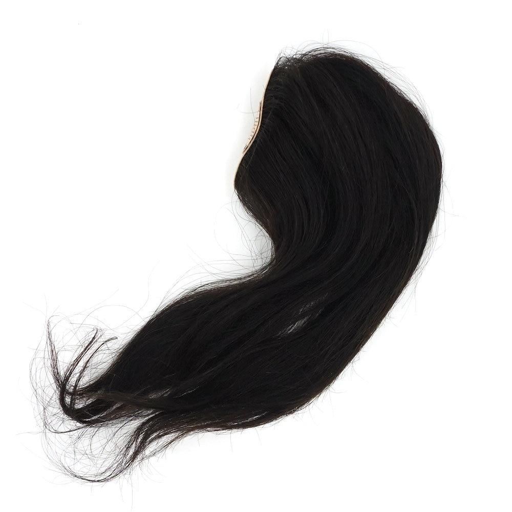 de cabelo humano peruca feminina hairpiece com clipes tp01