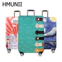 Hmunii Wereldkaart Ontwerp Bagage Beschermhoes Reizen Koffer Cover Elastische Stof Gevallen Voor 18 Tot 32 Inches Reizen Accessoires