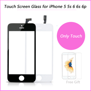 Touch Screen Digitizer Frame For iPhone 5 5s 6 plus 6S Touchscreen Front Touch Panel Glass Lens 6p 6s Phone Accessories + film