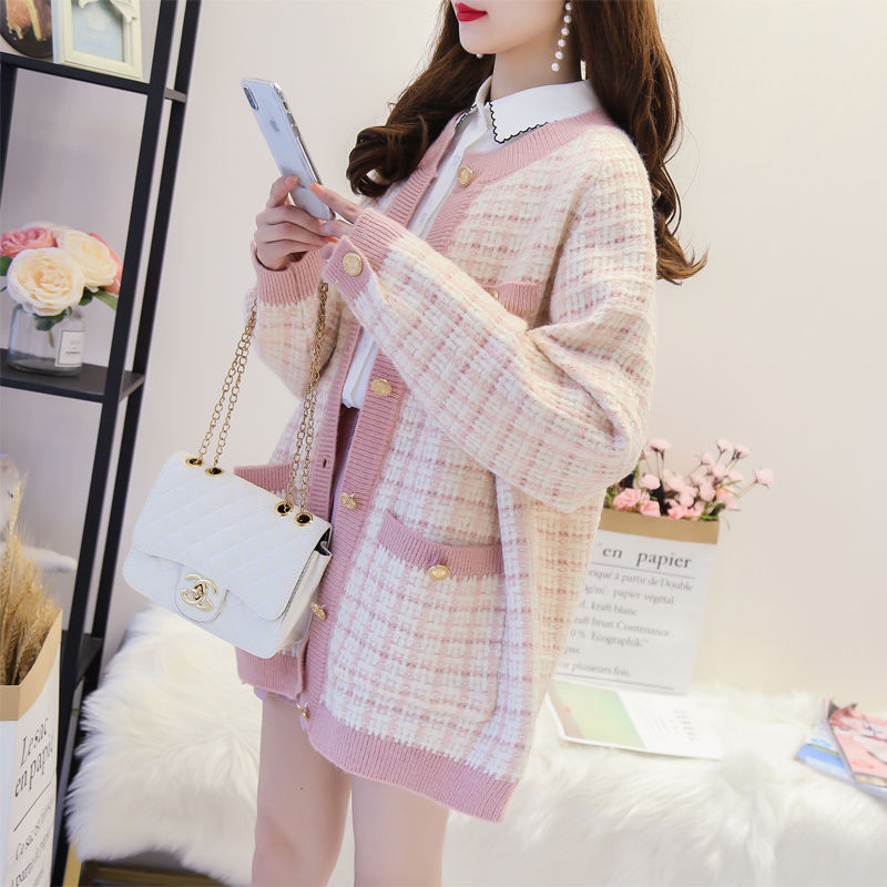 Spring/autumn Women Sweaters Knitted Loose Casual Sweater Autumn Thick Women Clothing Cardigans Students Sweaters Ins Women Coat