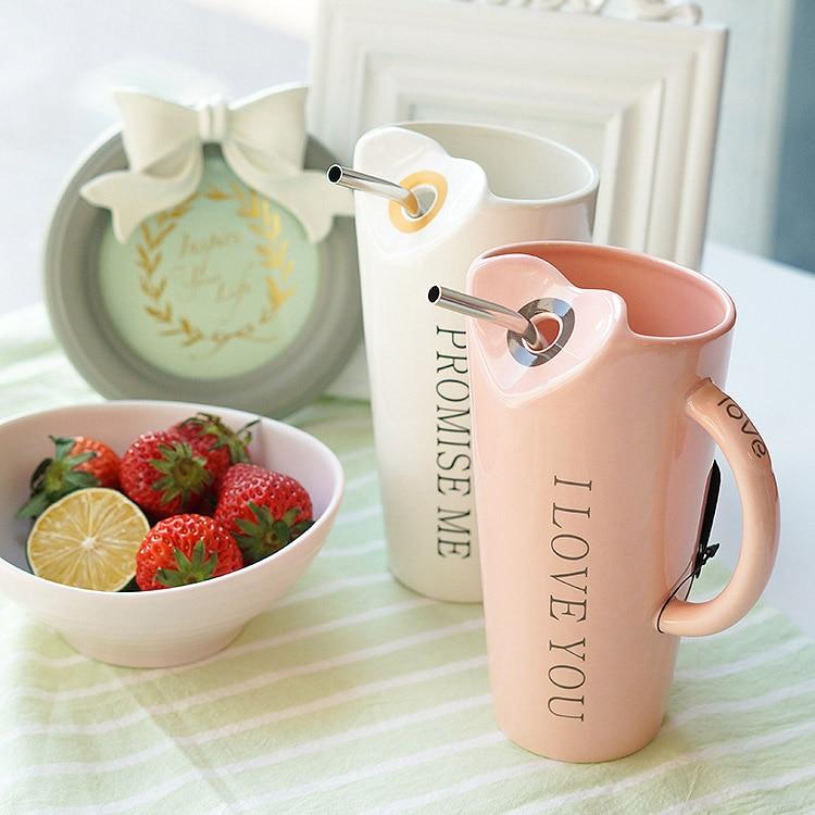 480ml Fashion Straw Ceramics Mug Coffee Milk Tea Breakfast Cup Porcelain Mugs Drinkware Novelty Gifts