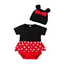 Jumpsuits Cartoon Costume Bebe Baby Rompers Girls Newborn Boy Cotton Full with Hat Two-Pieces