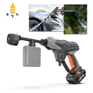 Image 1 - Lithium Battery Hand Held Cleaning Gun / 330W Portable Car Washer / 40V Wireless Rechargeable Car Washer Water Gun