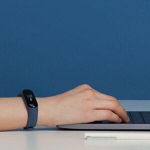 Image 4 - Xiaomi Mi bande 3 Version mondiale Bracelet de suivi de forme physique OLED écran moniteur de fréquence cardiaque Bracelet bande
