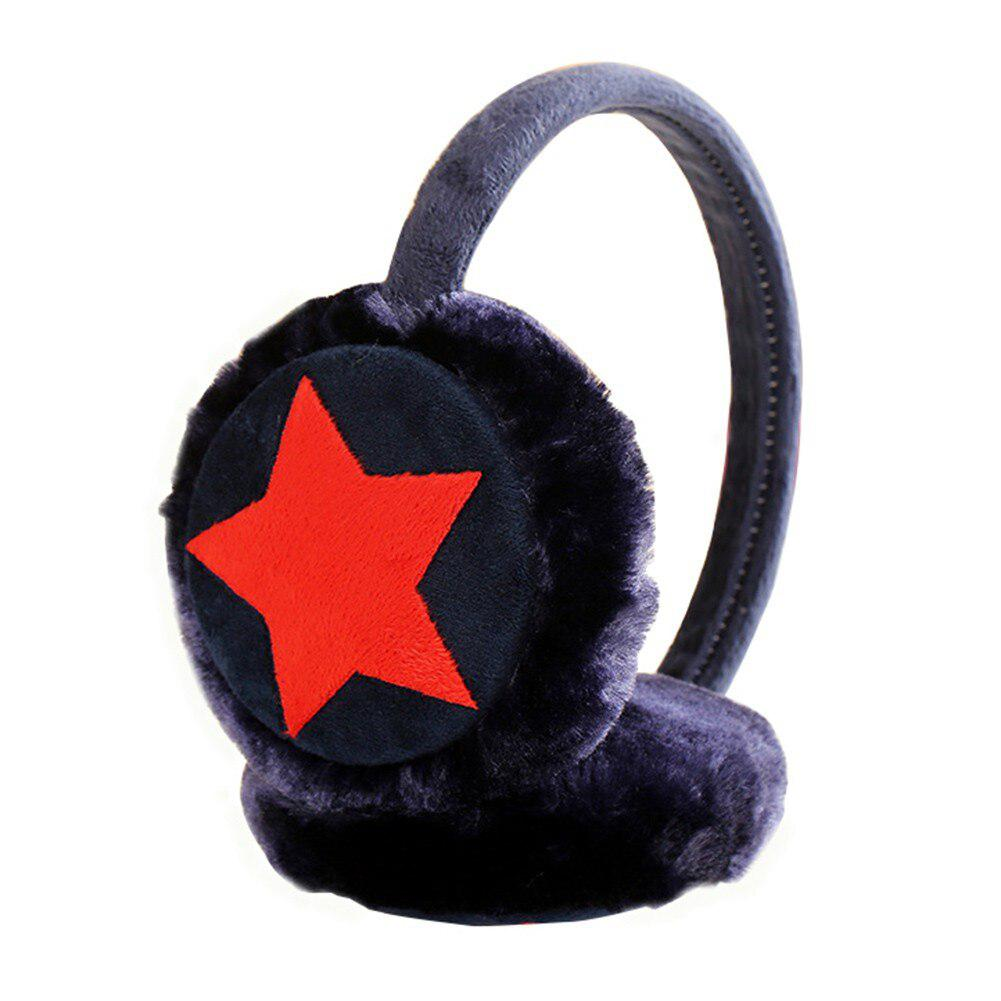 MISSKY Kids Girls Winter Warm Faux Plush Cute Five Pointed Star Ear Warmer Earmuffs Christmas Gifts