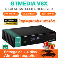 1080P GTmedia V8X DVB-S2-цифра спутниковый телевизионный ресивер GTmedia V9 с полным HD H.265 Встроенный Wi-Fi Обновление от Gtmedia v8 honor v9 супер